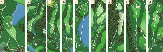 Halcyon Retreat Golf Holes 1 to 9